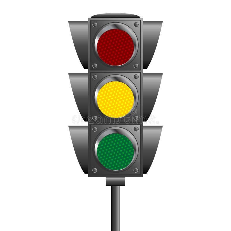 Download Traffic ligths pole stock vector. Image of illustration - 21037622