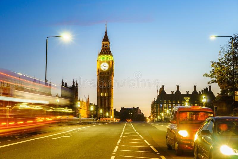 Traffic through London stock photos