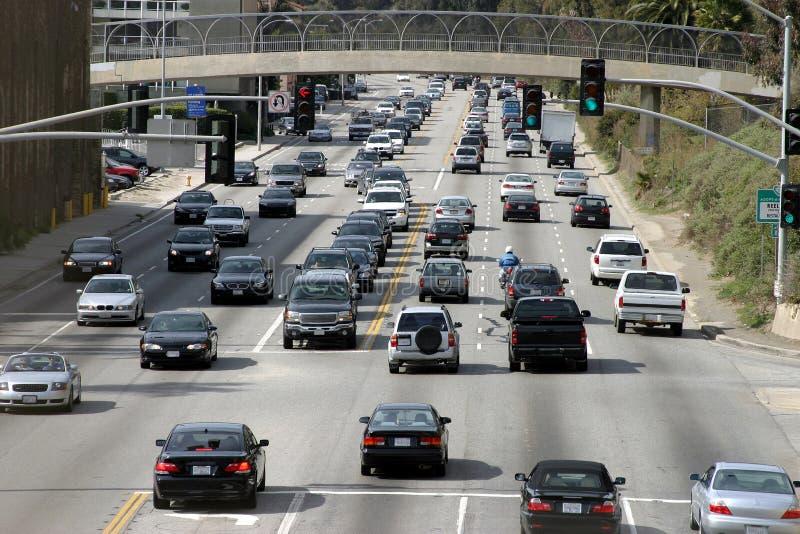 Traffic, Los Angeles stock photos