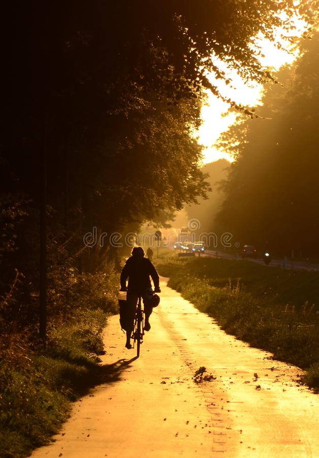 Morning`s traffic royalty free stock photography