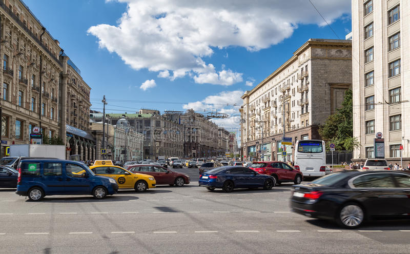 Traffic in Moscow royalty free stock image
