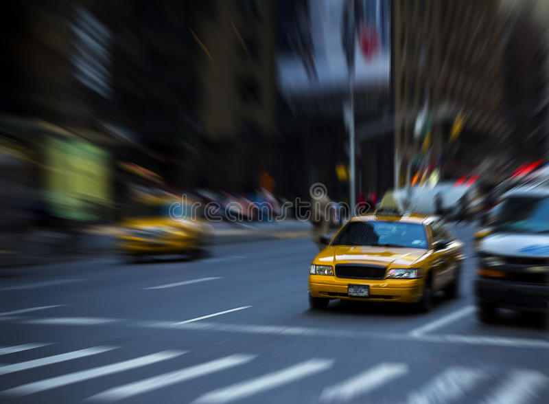Traffic in motion. Traffic is a hard thing to capture, and the stress of New York is even harder, but I think this gives a realistic view of the powerlessness royalty free stock image