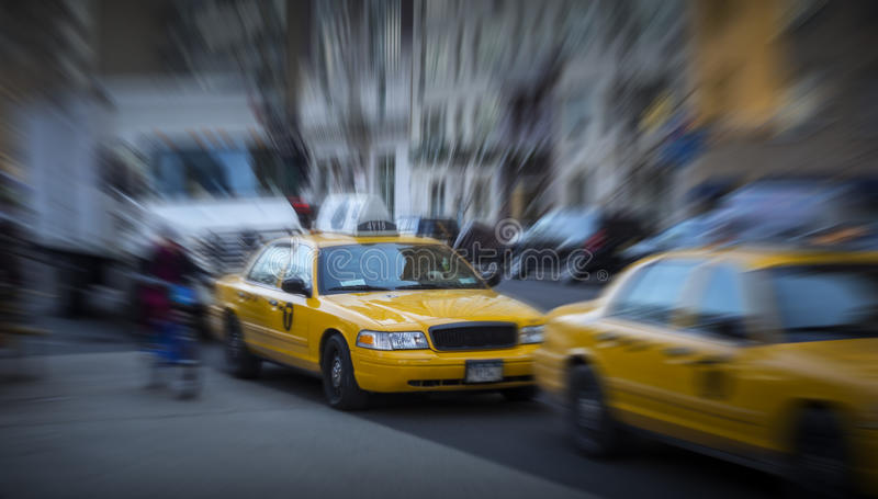 Traffic in motion. Traffic is a hard thing to capture, and the stress of New York is even harder, but I think this gives a realistic view of the powerlessness royalty free stock photography