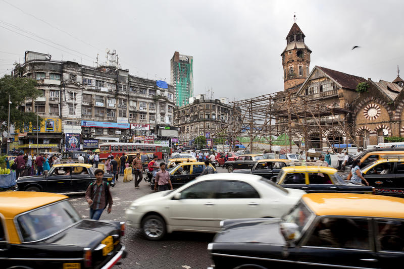 Traffic in Mumbai royalty free stock photography