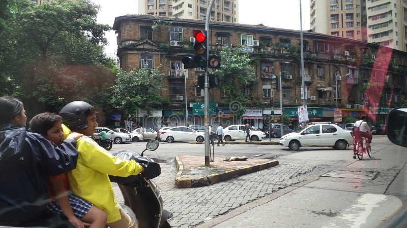 Traffic in mumbai stock images