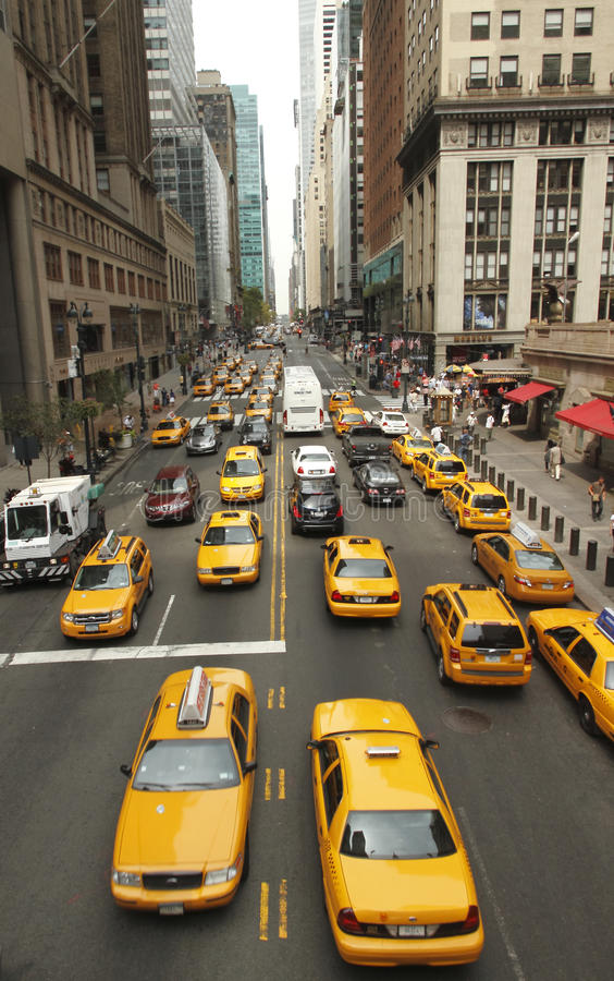 Traffic in New York. This was shot at 42nd Street, Manhattan of New York City on August 21, 2010