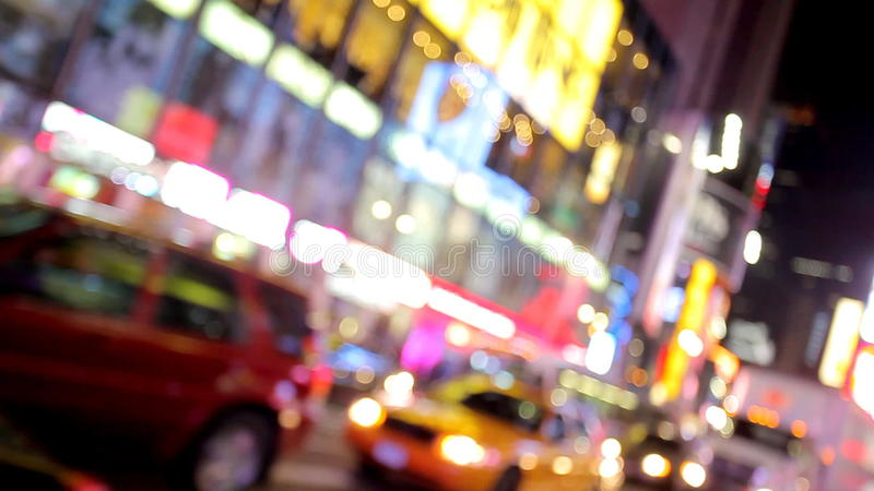 Traffic in the New York city stock footage