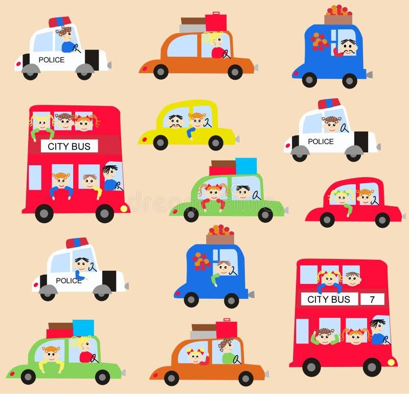 traffic pattern vector illustration