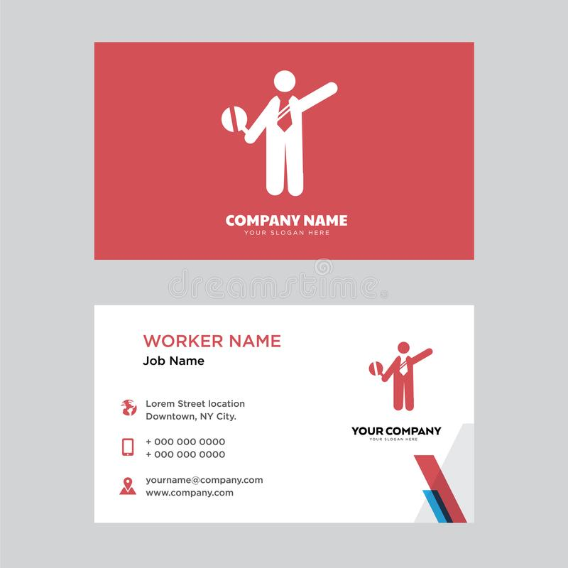Traffic Police Business Card Design Editorial Stock Image