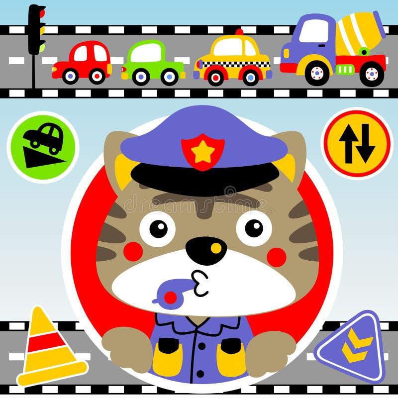 Traffic police royalty free illustration