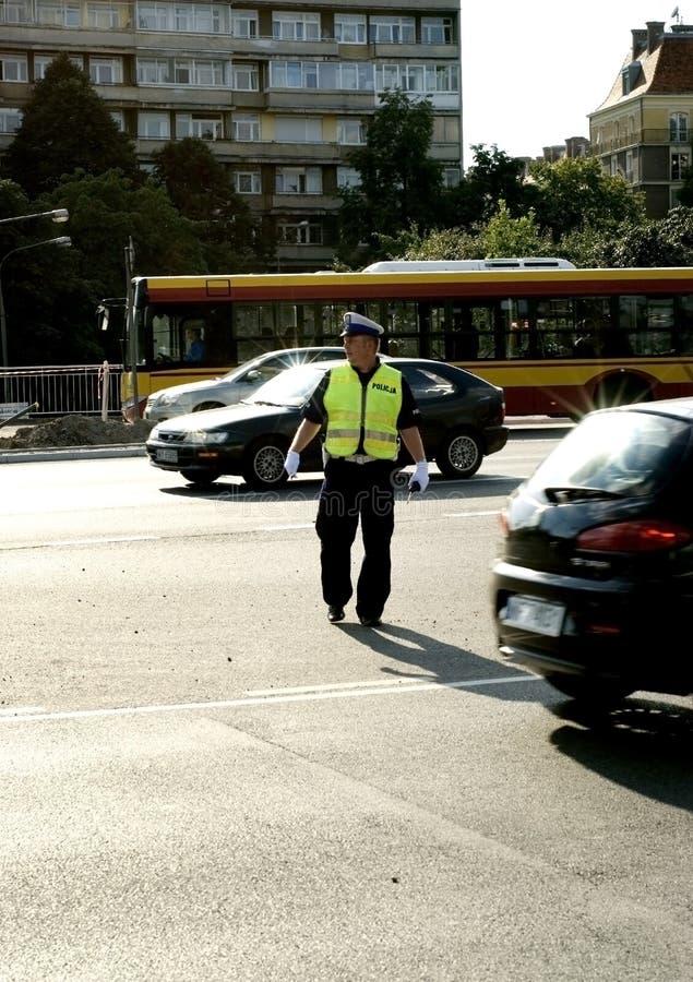 Traffic policeman royalty free stock photos