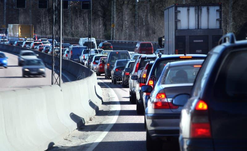Traffic queue stock photography