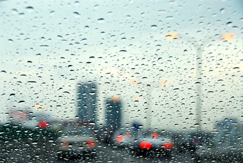 Traffic Rainy Day Stock Image