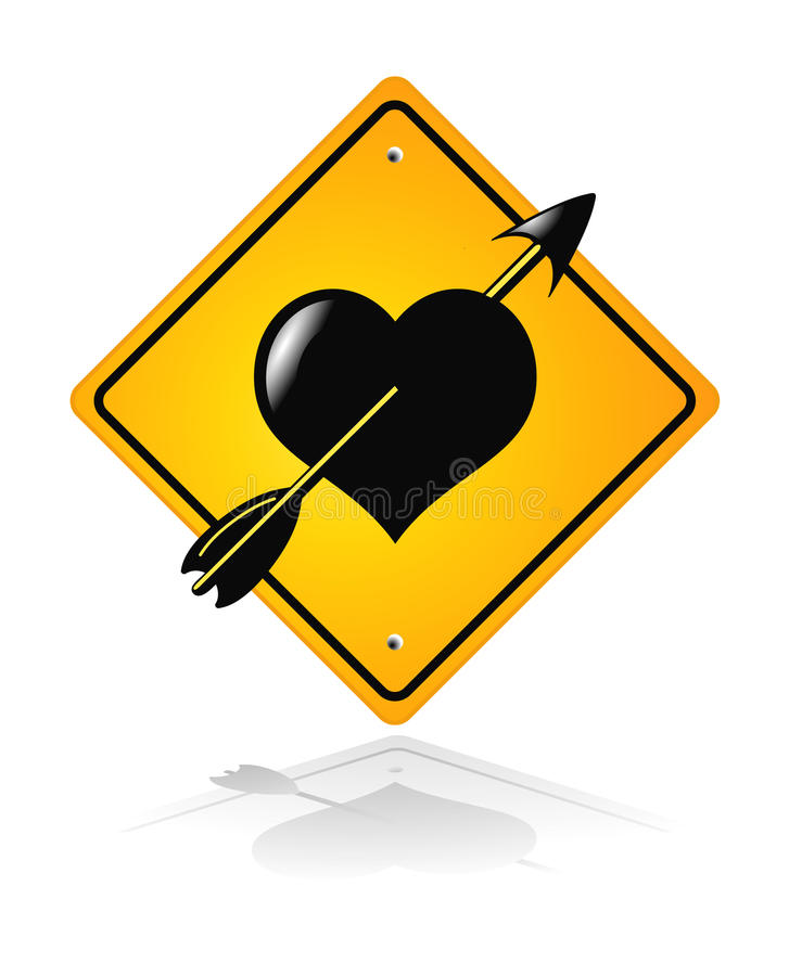 Download Traffic road heart sign stock vector. Image of symbol - 15324053