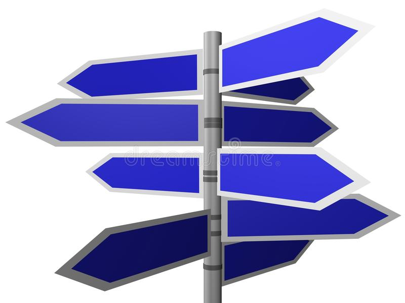 Traffic road sign. 3d Rendered image of traffic road sign royalty free illustration