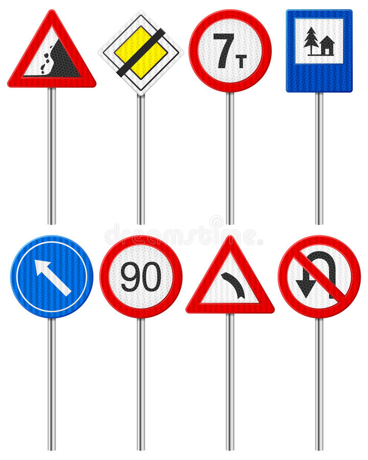 Download Traffic road sign set stock vector. Image of vector, rules - 35229404