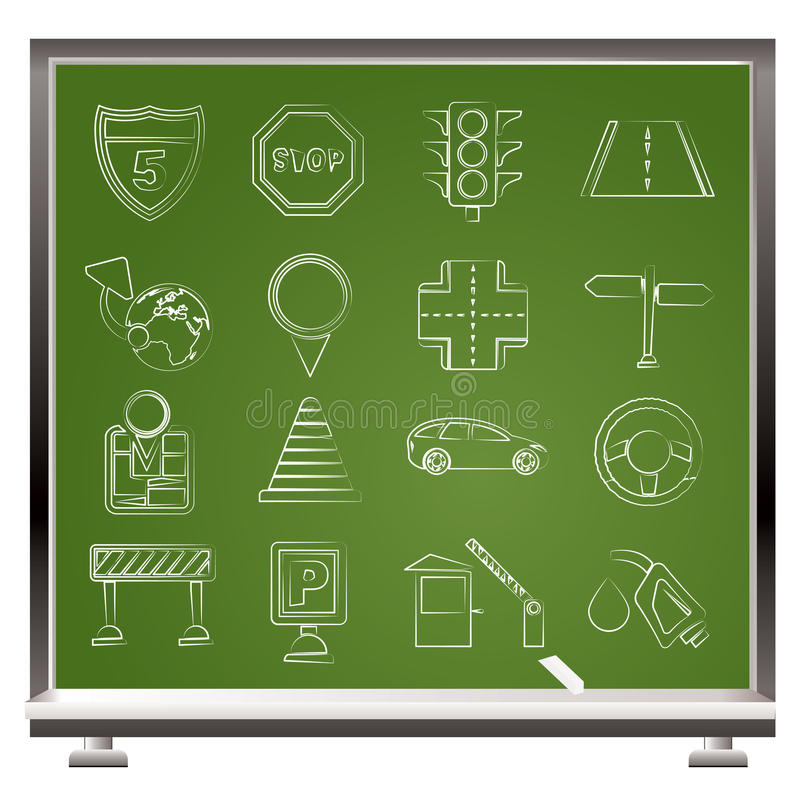 Download Traffic, Road And Travel Icons Stock Vector - Image: 25636635