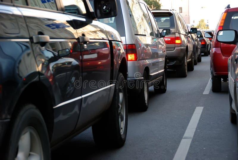 Traffic during the rush hour stock photo