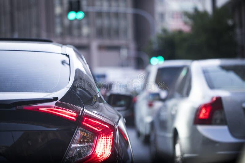 Traffic Rush Hour. Cars at street rush hour royalty free stock photo
