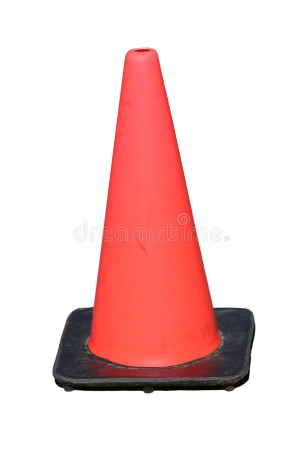 Traffic safety cone stock photography