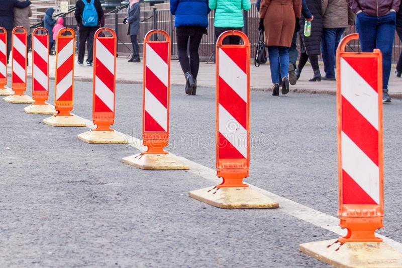 traffic safety construction roadwork signs. royalty free stock images