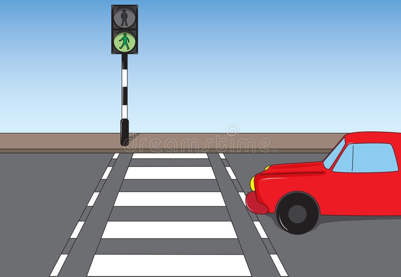 Traffic scene stock illustration