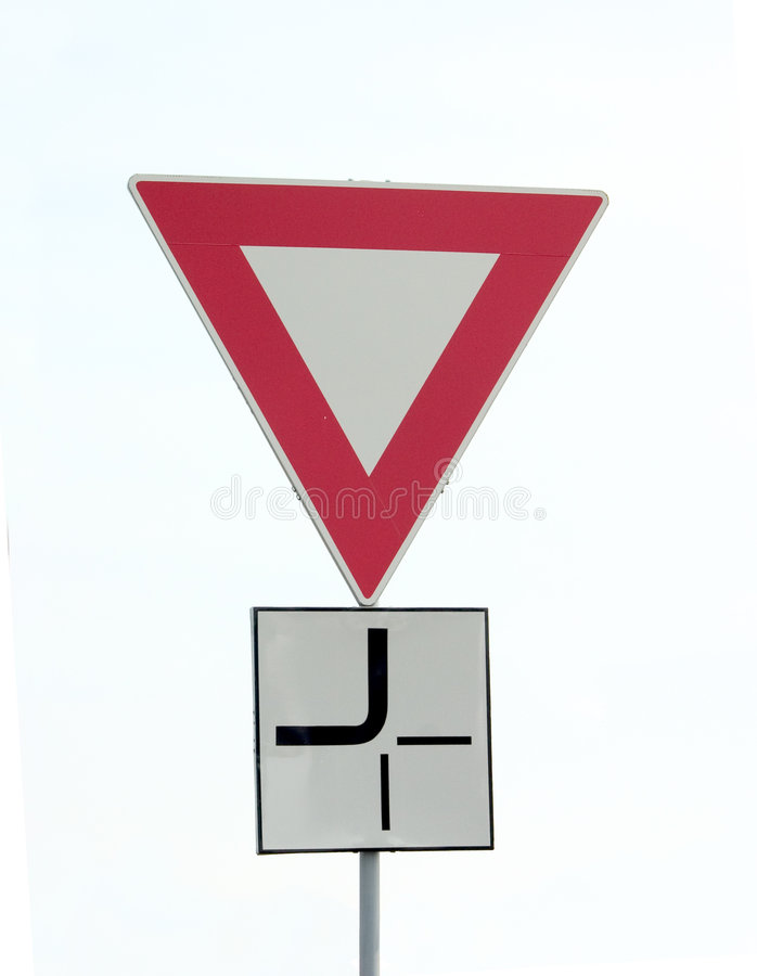 Download Traffic Sign stock image. Image of danger, white, priority - 107759