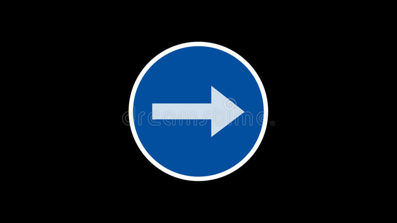 Traffic sign animated stock video footage