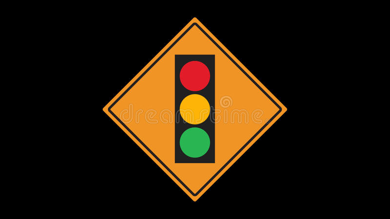 Traffic sign animated stock video