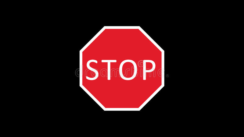 Traffic sign animated stock footage