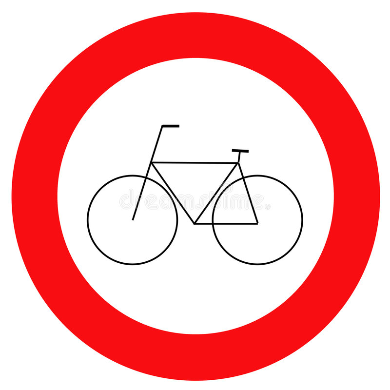 Traffic Sign Bicycle Stock Image