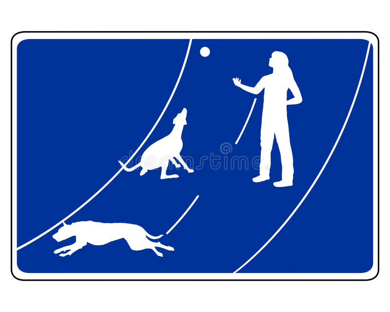 Traffic sign for dogs vector illustration