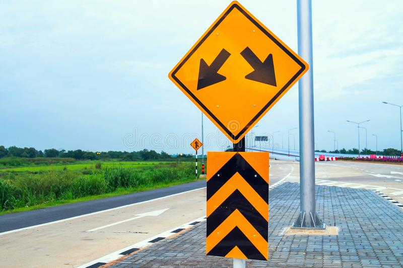 Download Traffic sign stock photo. Image of rectangle, sign, turn - 43241948