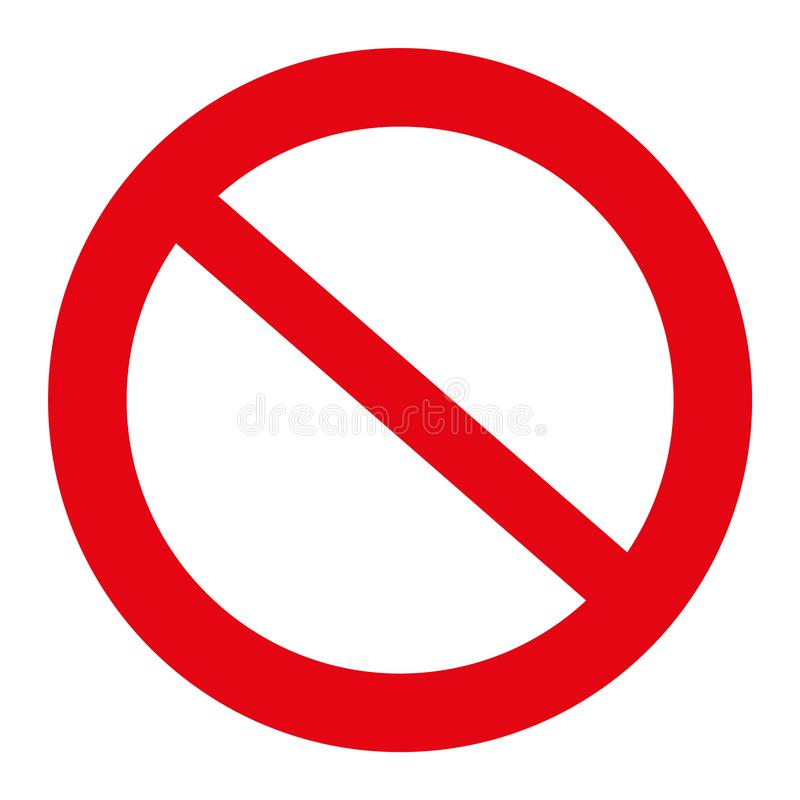 Free Traffic Sign Illustration, Not Allowed Sign, Isolated On The White, Illustration Vector Stock Photography - 104928822