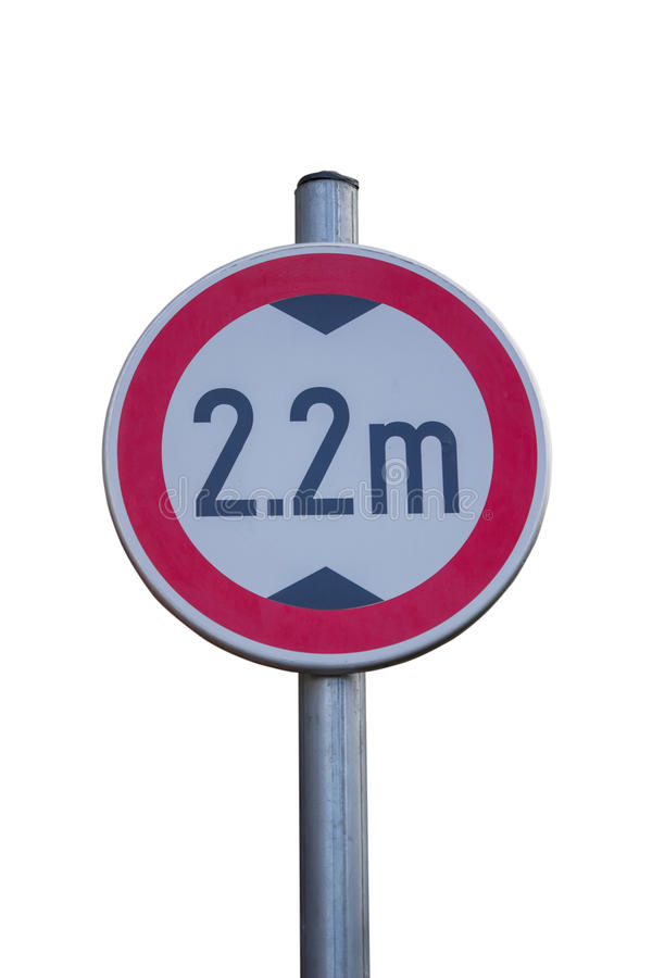 Traffic sign for low clearance royalty free stock images