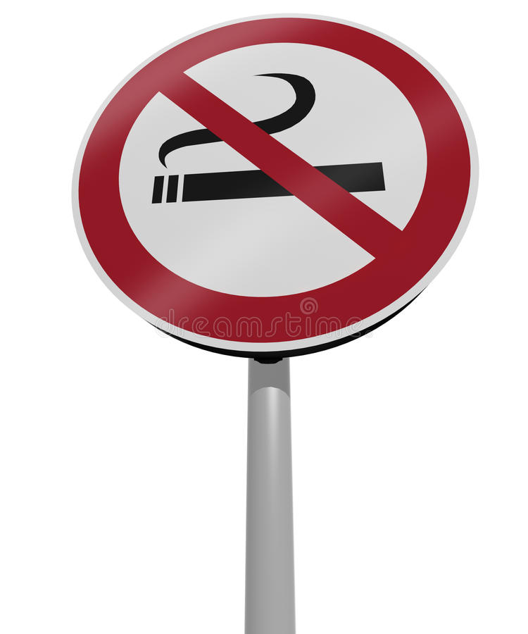 Traffic Sign No Smoking Stock Photography
