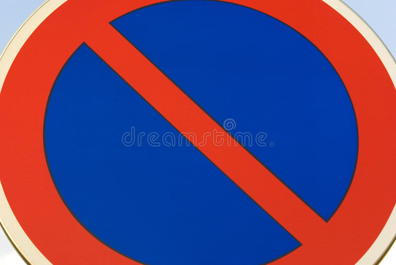 traffic sign, no standing royalty free stock image
