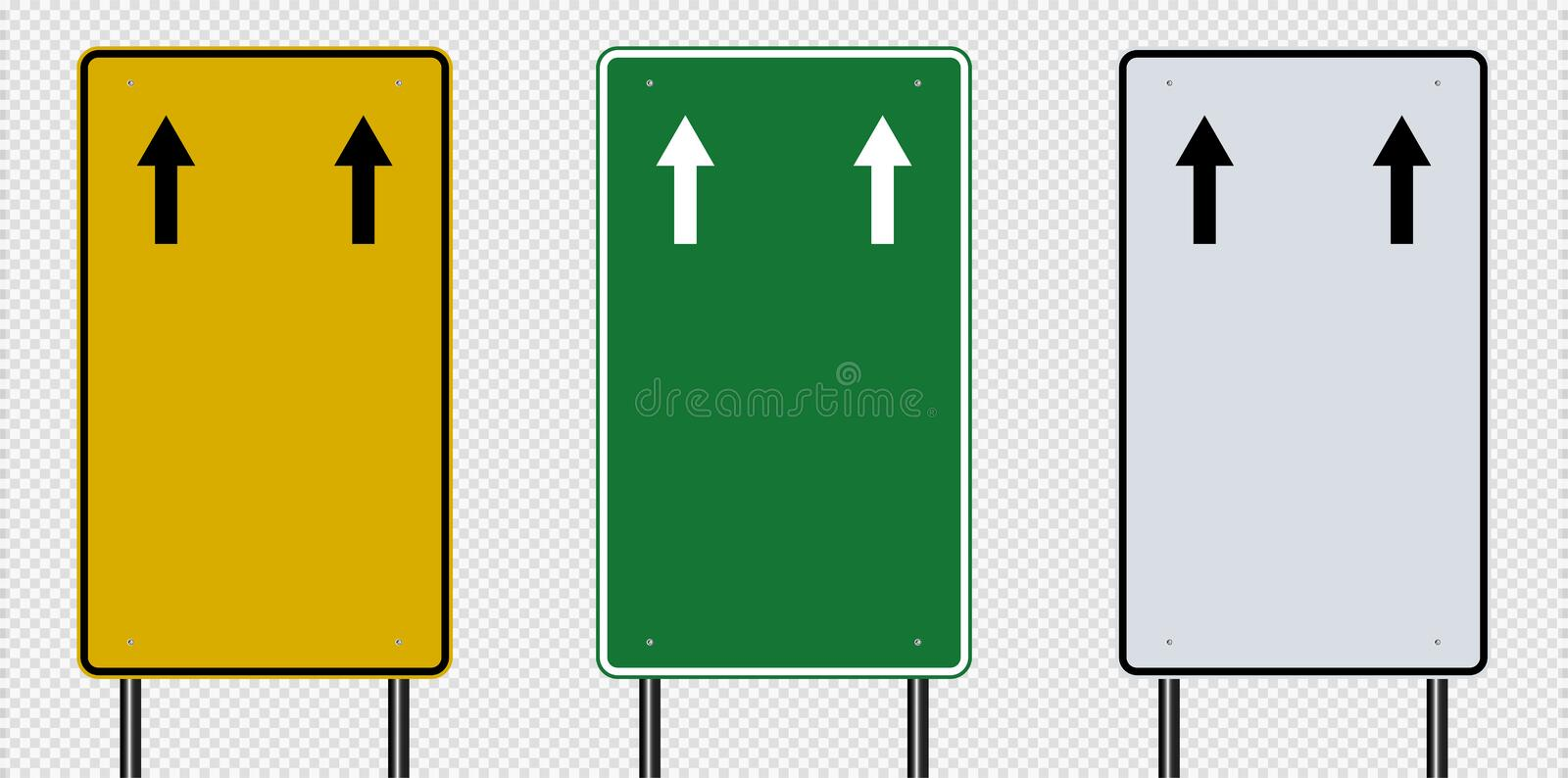 Traffic sign,Road board signs isolated on transparent background. Vector illustration EPS 10. Street information way blank transportation empty highway vector illustration