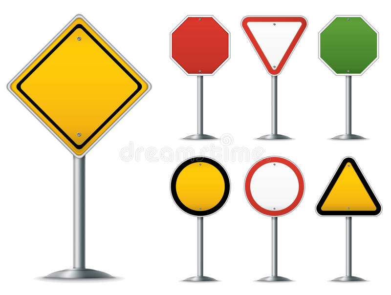 Traffic Sign Set royalty free illustration