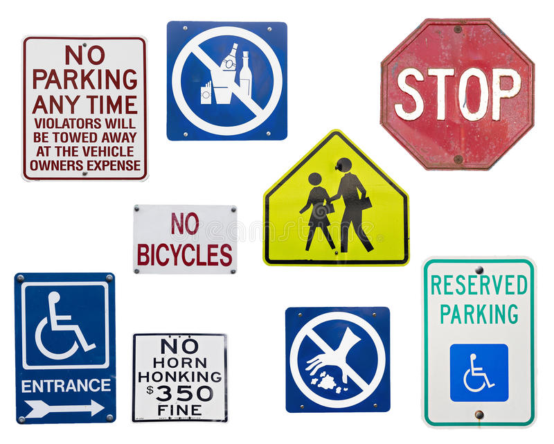 Traffic Sign. Set of Simple Traffic Sign stock image