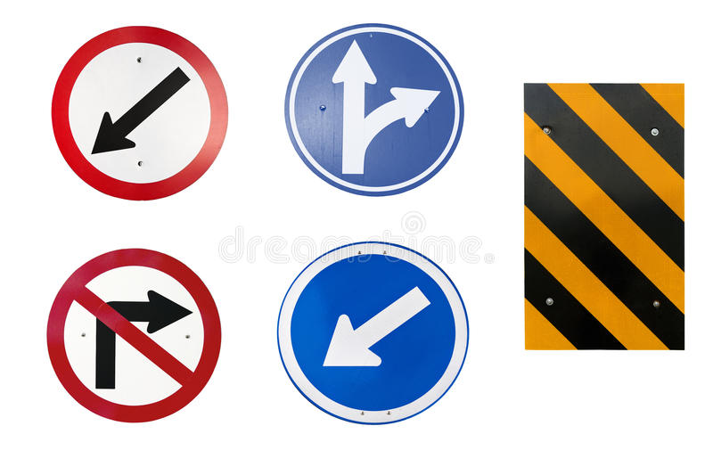 Traffic Sign. Set of Simple Traffic Sign stock photography