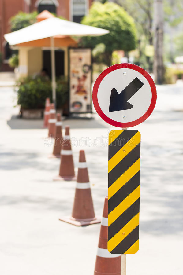 Traffic sign. The traffic sing in the front of village royalty free stock photography