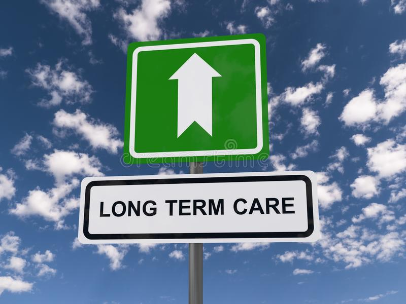 Long term care royalty free illustration