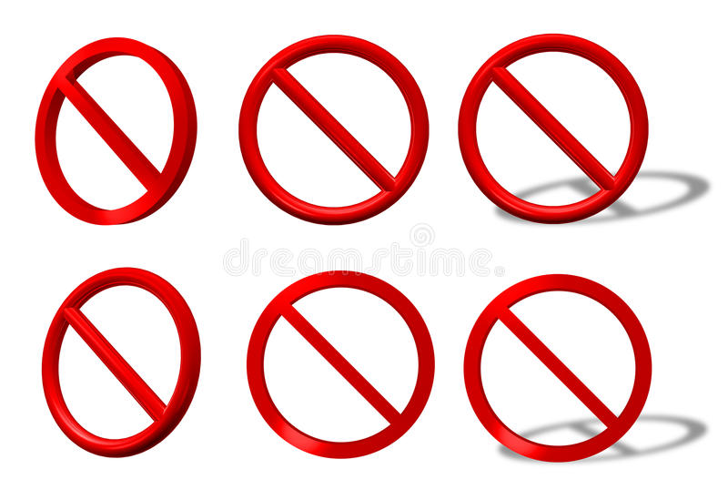 Download Traffic Sign Type Prohibition Collection Stock Illustration - Image: 11867213