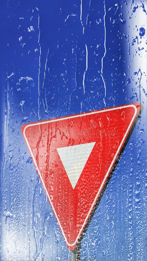 Traffic sign wallpaper for phone stock photos