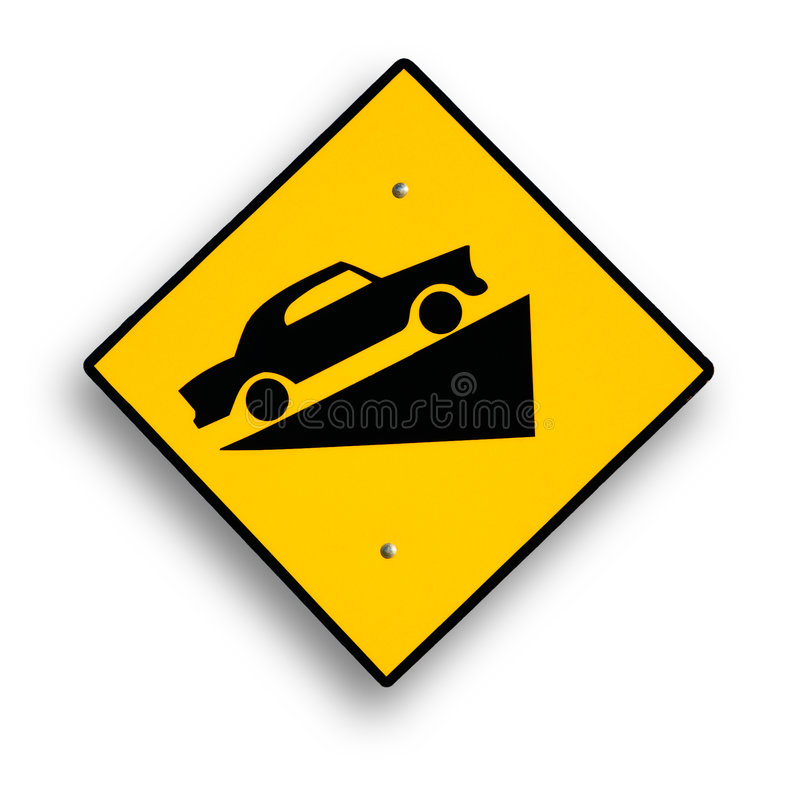 Traffic sign on white. royalty free stock images