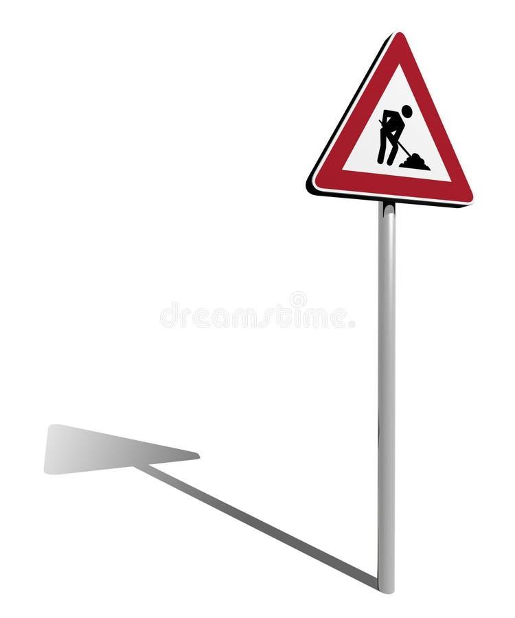 Traffic sign work in progress royalty free illustration