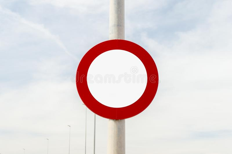 Traffic signal with copyspace stock photo