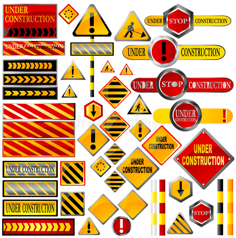 Download Traffic signs stock vector. Image of construction, design - 11092031