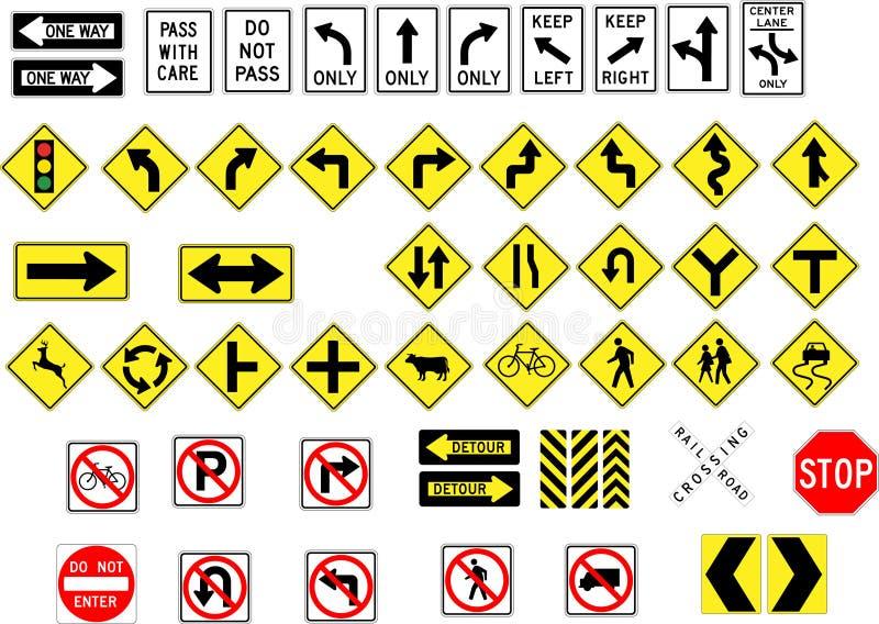 Traffic signs stock illustration
